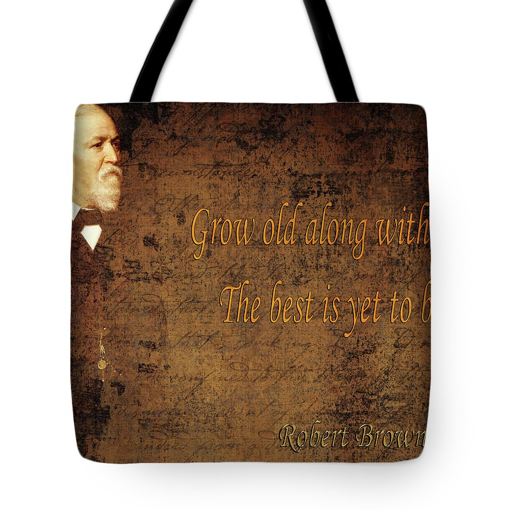 Robert Browning Tote Bag featuring the photograph Robert Browning 1 by Andrew Fare