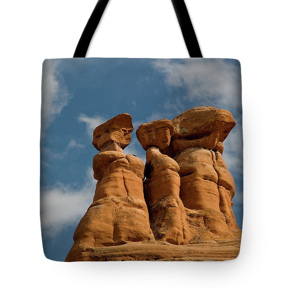 Geology Tote Bag featuring the photograph Rock Formation In Arches National Park by Amateur Photographer, Still Learning...
