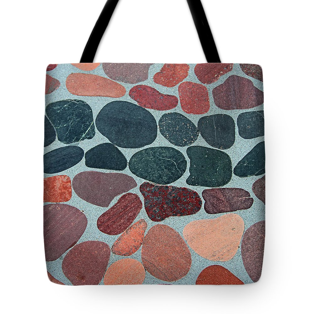 Rocks Sawed And Polished Tote Bag featuring the digital art Rocks Sawed And Polished by Tom Janca