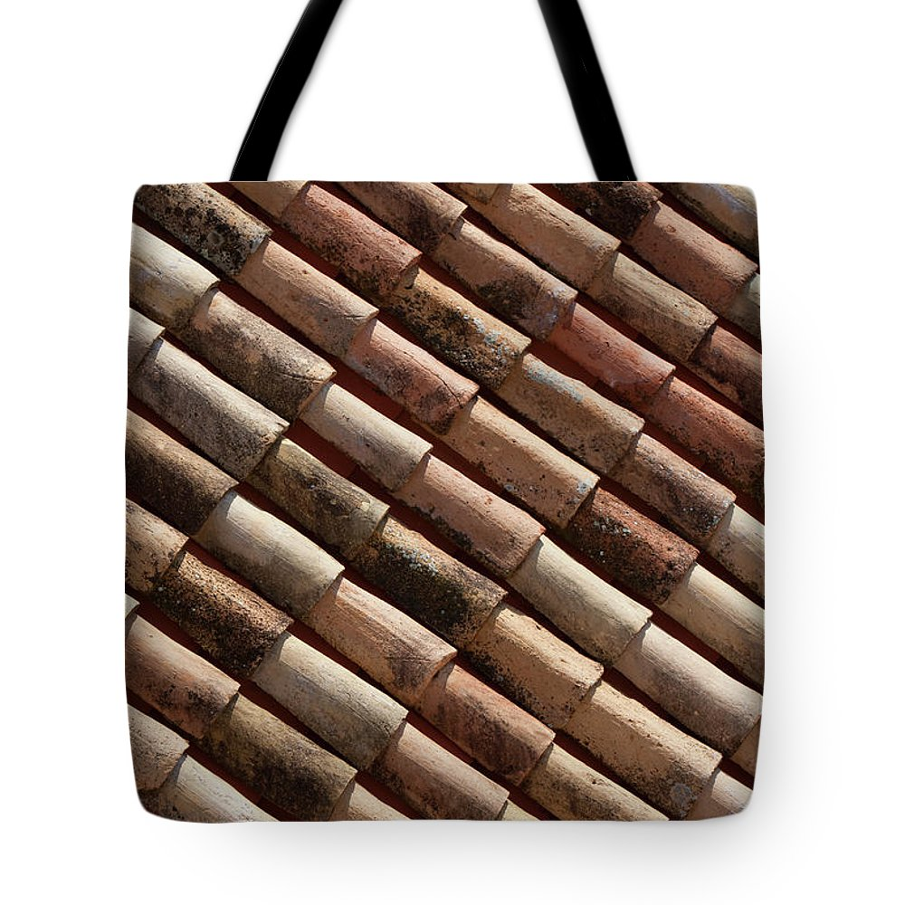 In A Row Tote Bag featuring the photograph Rooftop In Dubrovnik Old Town by Martin Child