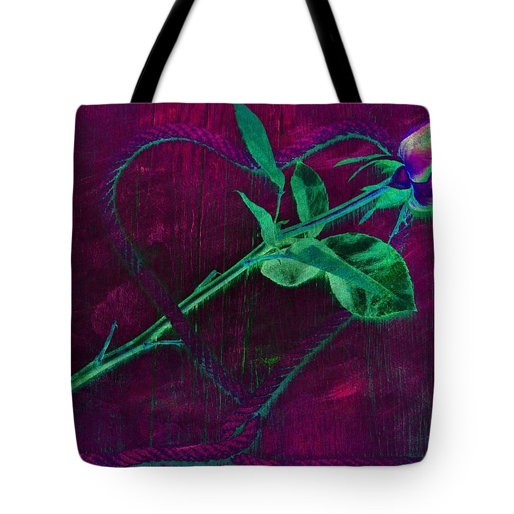 Photography Tote Bag featuring the photograph Roped Heart by Dawn Van Doorn