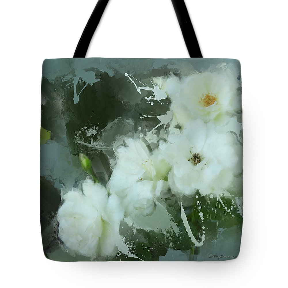 White Roses Tote Bag featuring the painting Rose Harmony by Dale Cooper