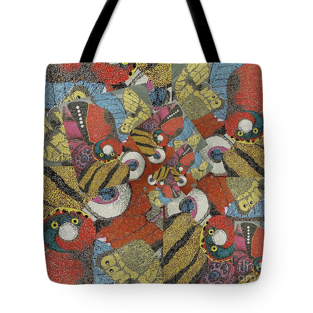 Over The Rainbow Tote Bag featuring the painting Round And Round by Cheryle Gannaway