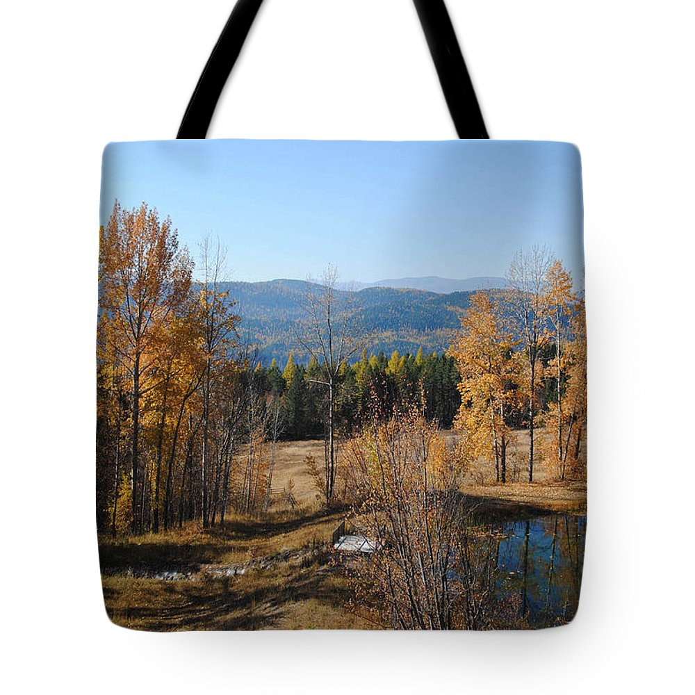 Montana Tote Bag featuring the photograph Rural Montana by Vallee Johnson