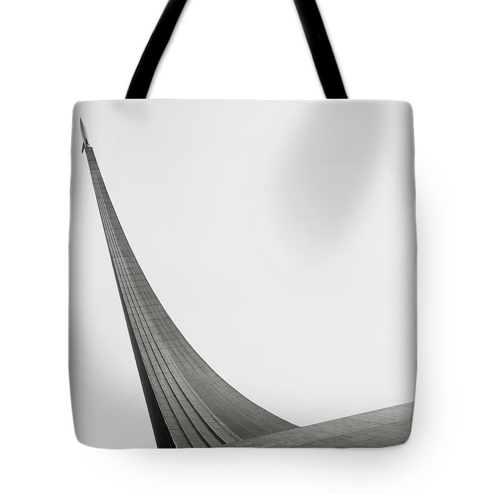 Outdoors Tote Bag featuring the photograph Russia, Moscow Space Monument, Low by Kim Steele