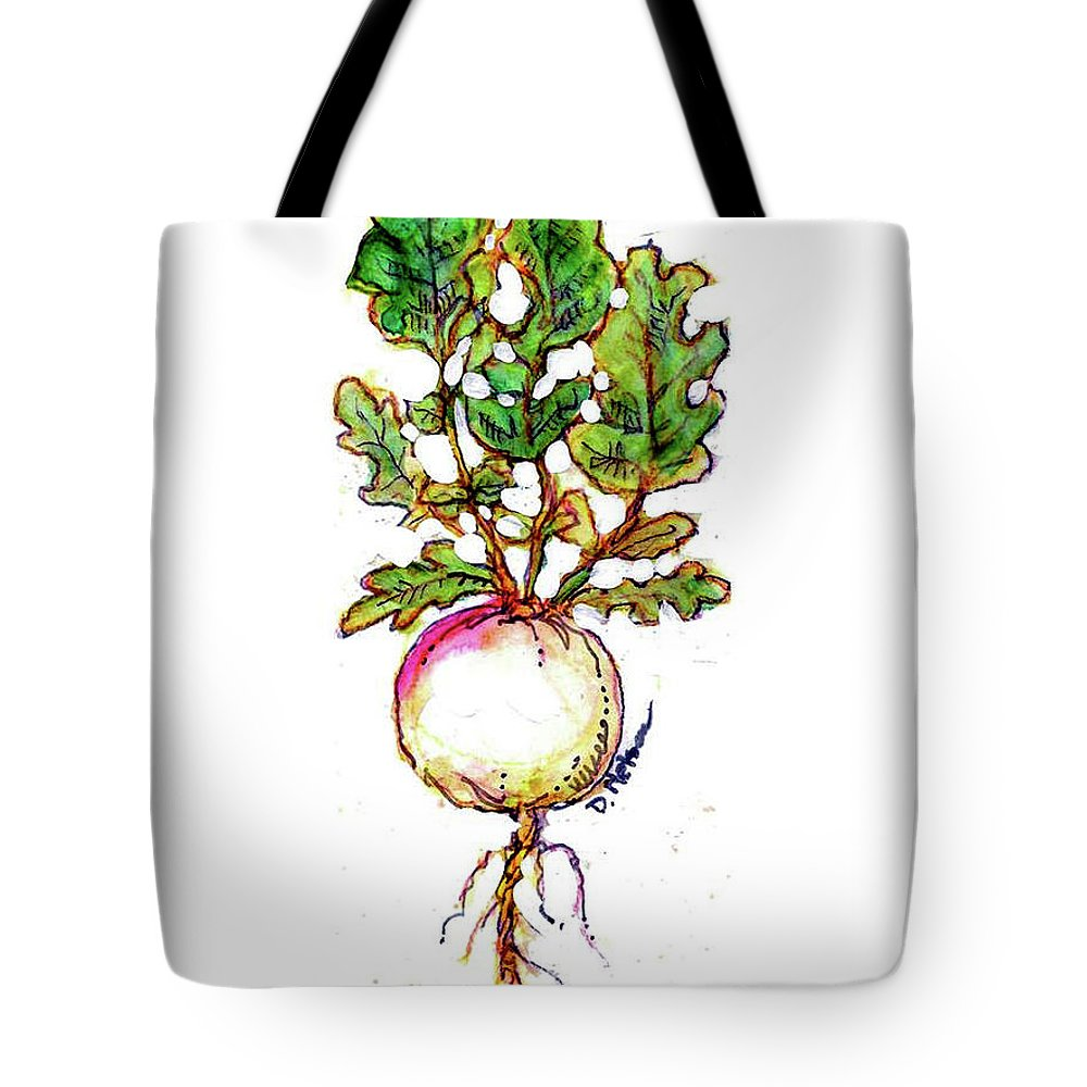 Fruit Watercolor. Fruits Illustration. Fruit Illustration. Fruits Illustrations. Rutabaga Watercolor. Tote Bag featuring the painting Rutabaga by Dan Nelson