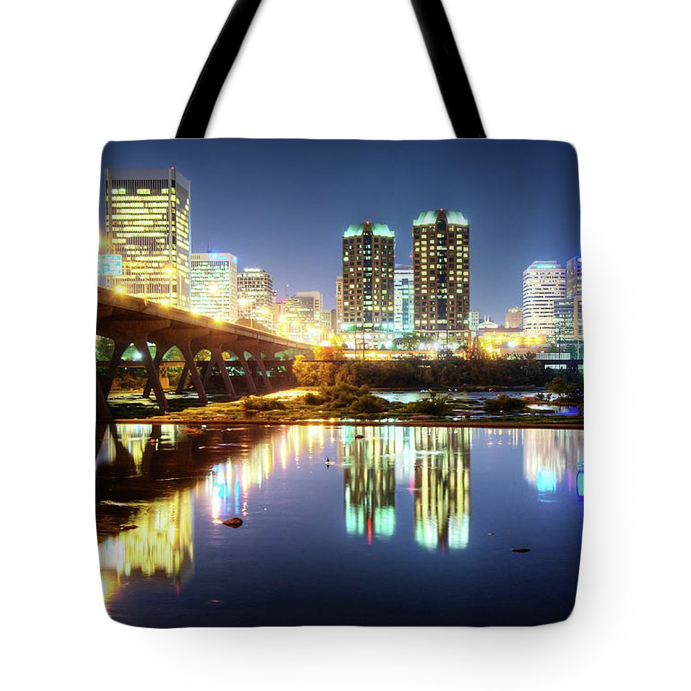 Tranquility Tote Bag featuring the photograph Rva Summer Night - Richmond Va On The by Sky Noir Photography By Bill Dickinson