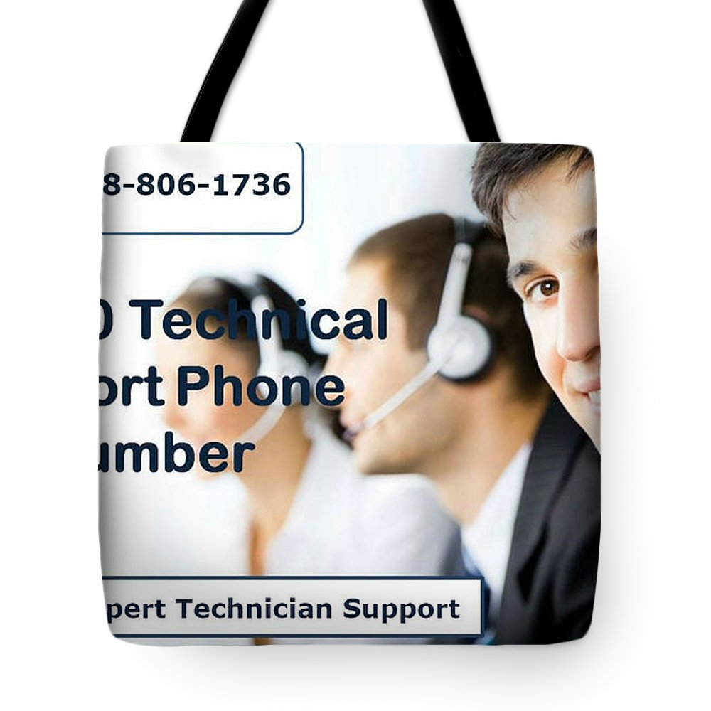 Sage Support Tote Bag featuring the mixed media Sage Customer Support Number Usa by Bella James