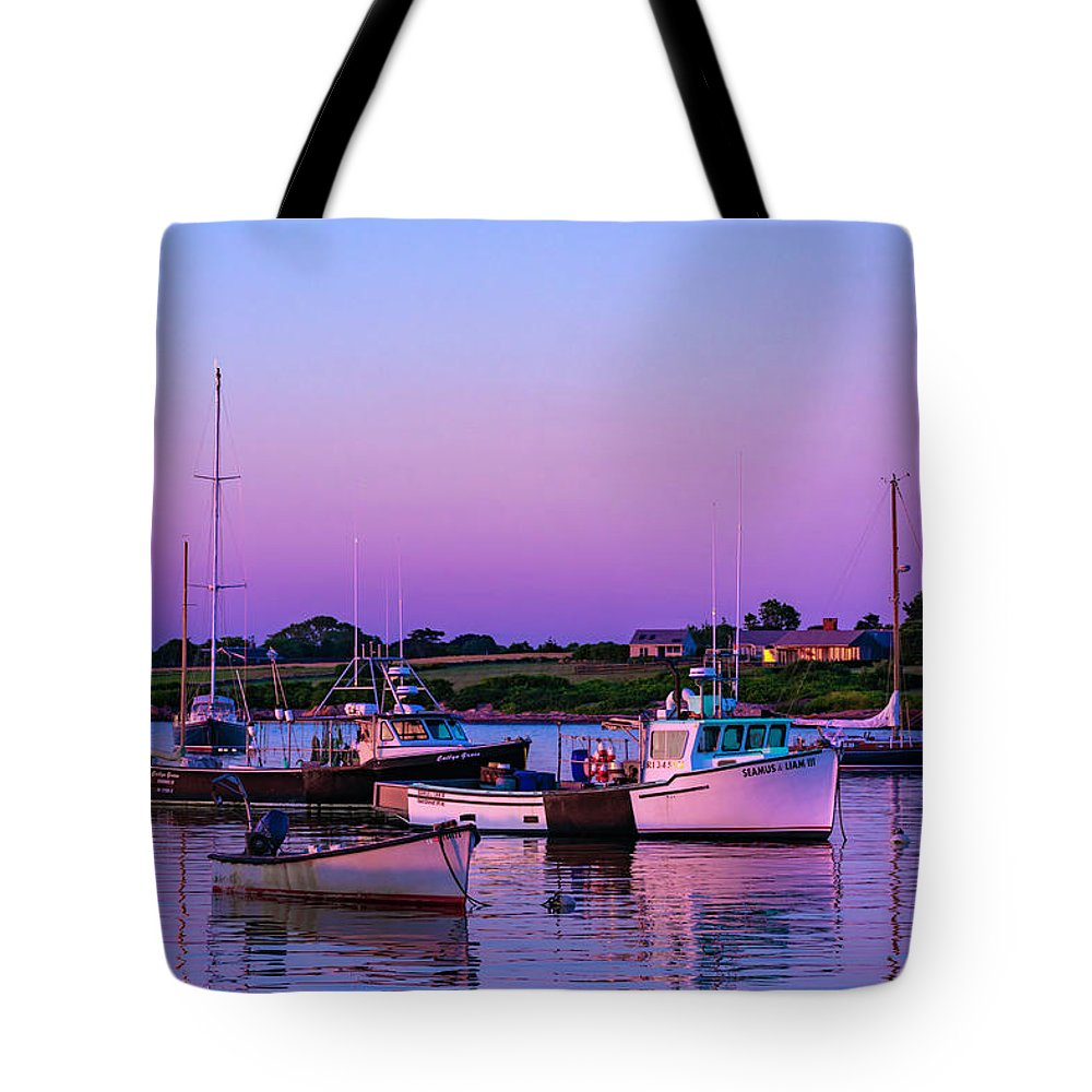Tote Bag featuring the photograph Sakonnet Point Boats by Sean Connolly