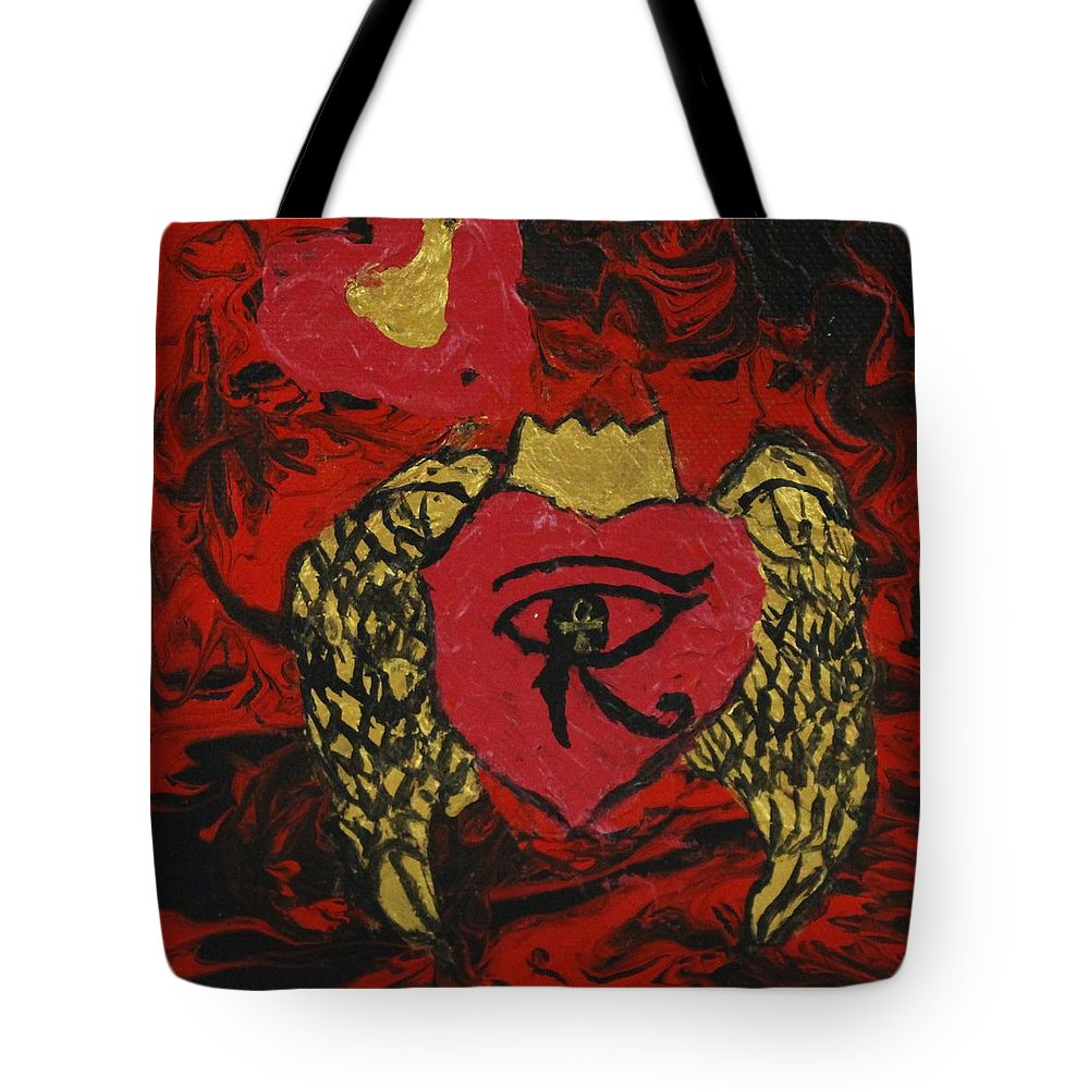 Abstract Tote Bag featuring the painting Salavtion by Sonye Locksmith