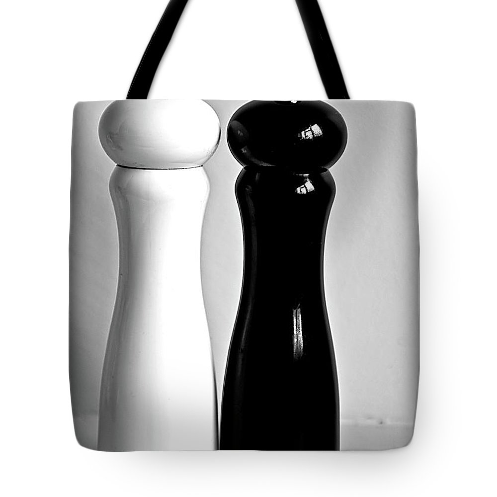 Black Color Tote Bag featuring the photograph Salt & Pepper by Daniela White Images