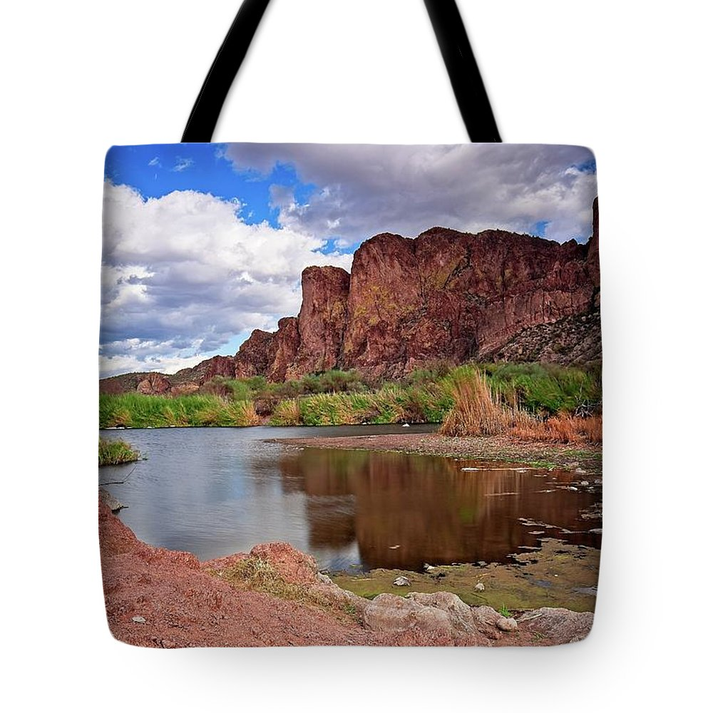 Salt River Tote Bag featuring the photograph Salt River, Arizona IIi by Bill Thomas
