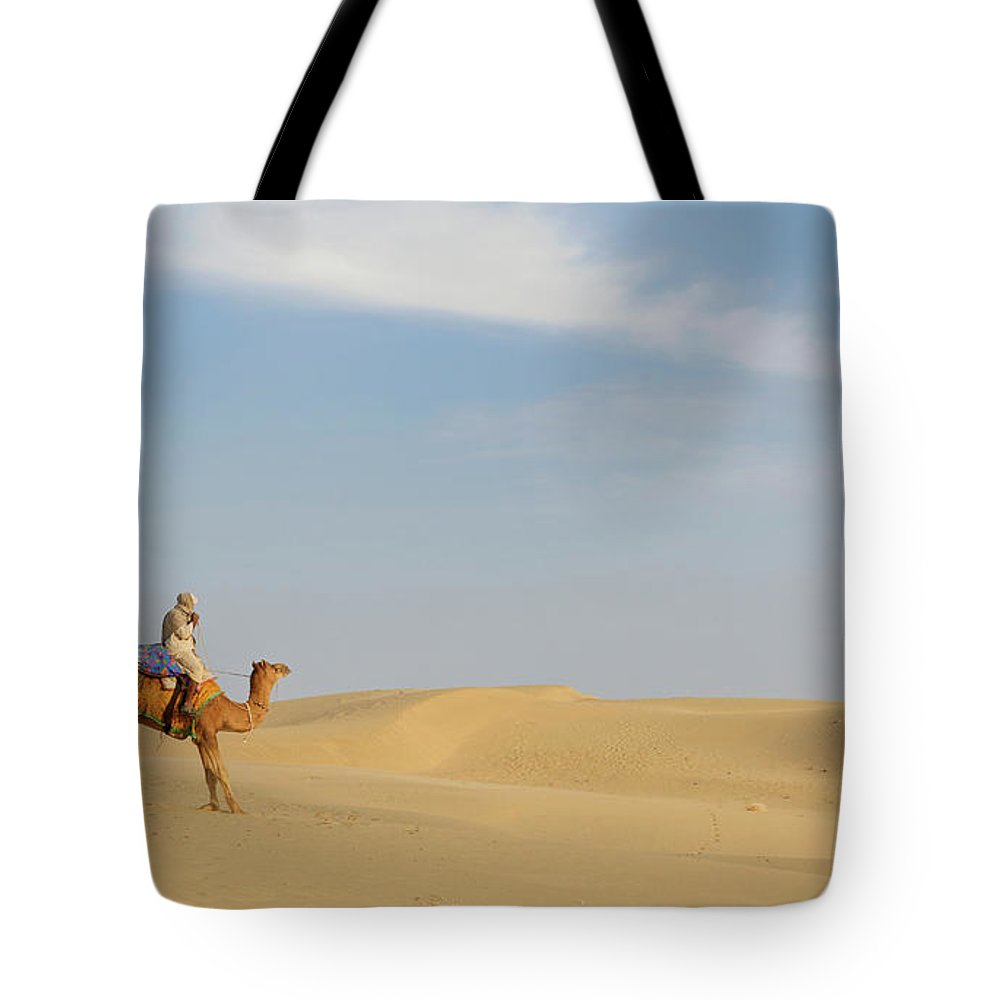 Tranquility Tote Bag featuring the photograph Sam Sand Dunes Near Jaisalmer, Rajasthan by Cultura Rm Exclusive/karen Fox