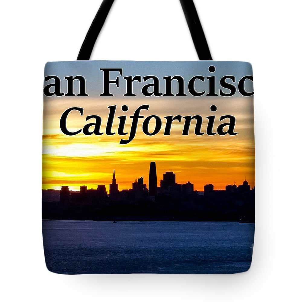 San Francisco Tote Bag featuring the photograph San Francisco Sunrise 2x3 by G Matthew Laughton