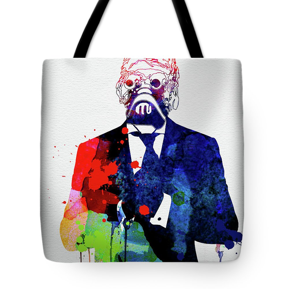 Tote Bag featuring the mixed media Sand Warrior In A Suite Watercolor by Naxart Studio