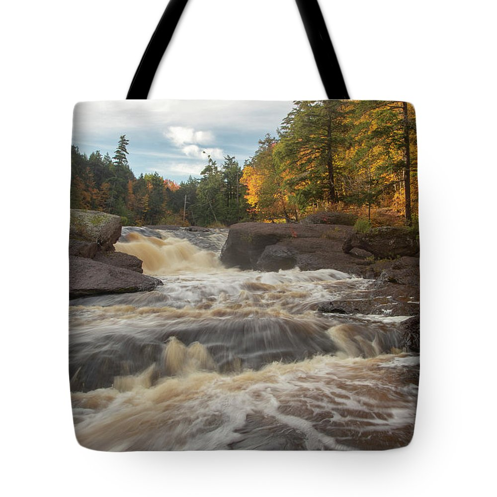 Tote Bag featuring the photograph Sandstone Falls - Michigan by Rick Veldman