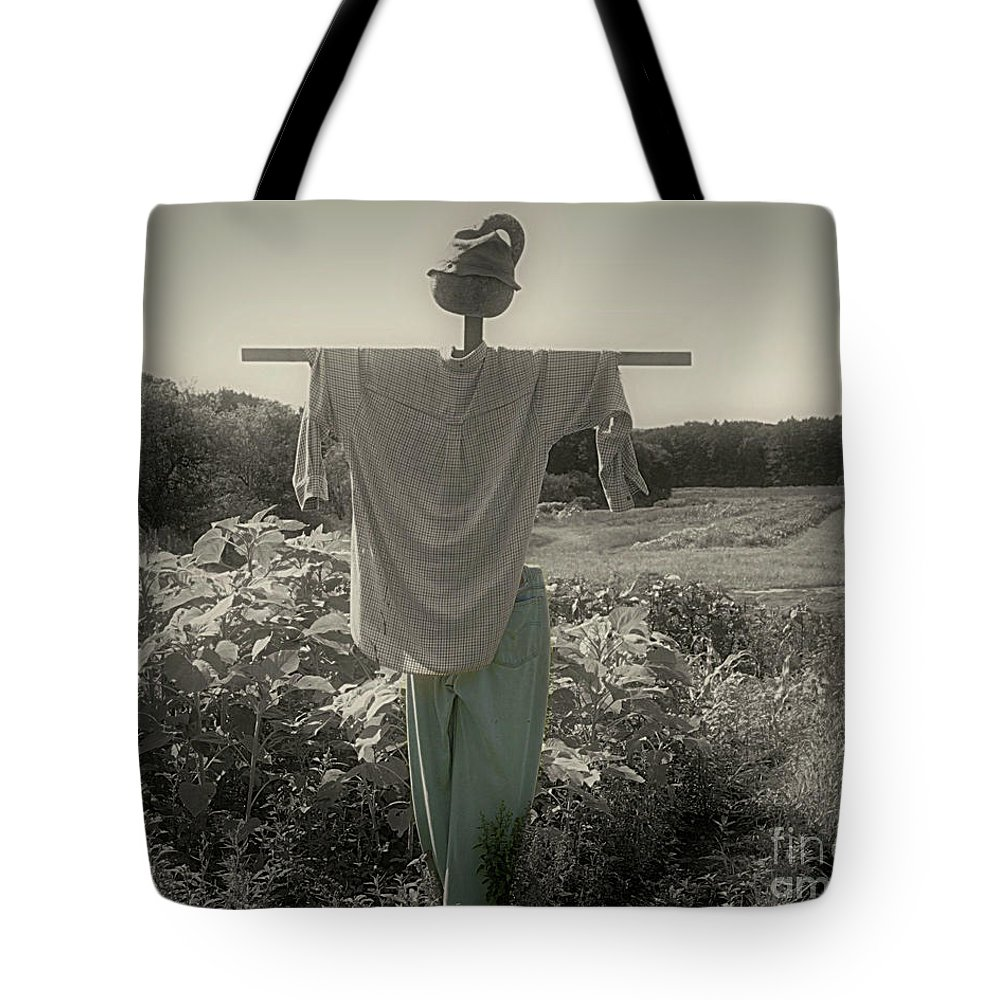 Scarecrow Tote Bag featuring the photograph Scarecrow by Smilin Eyes Treasures
