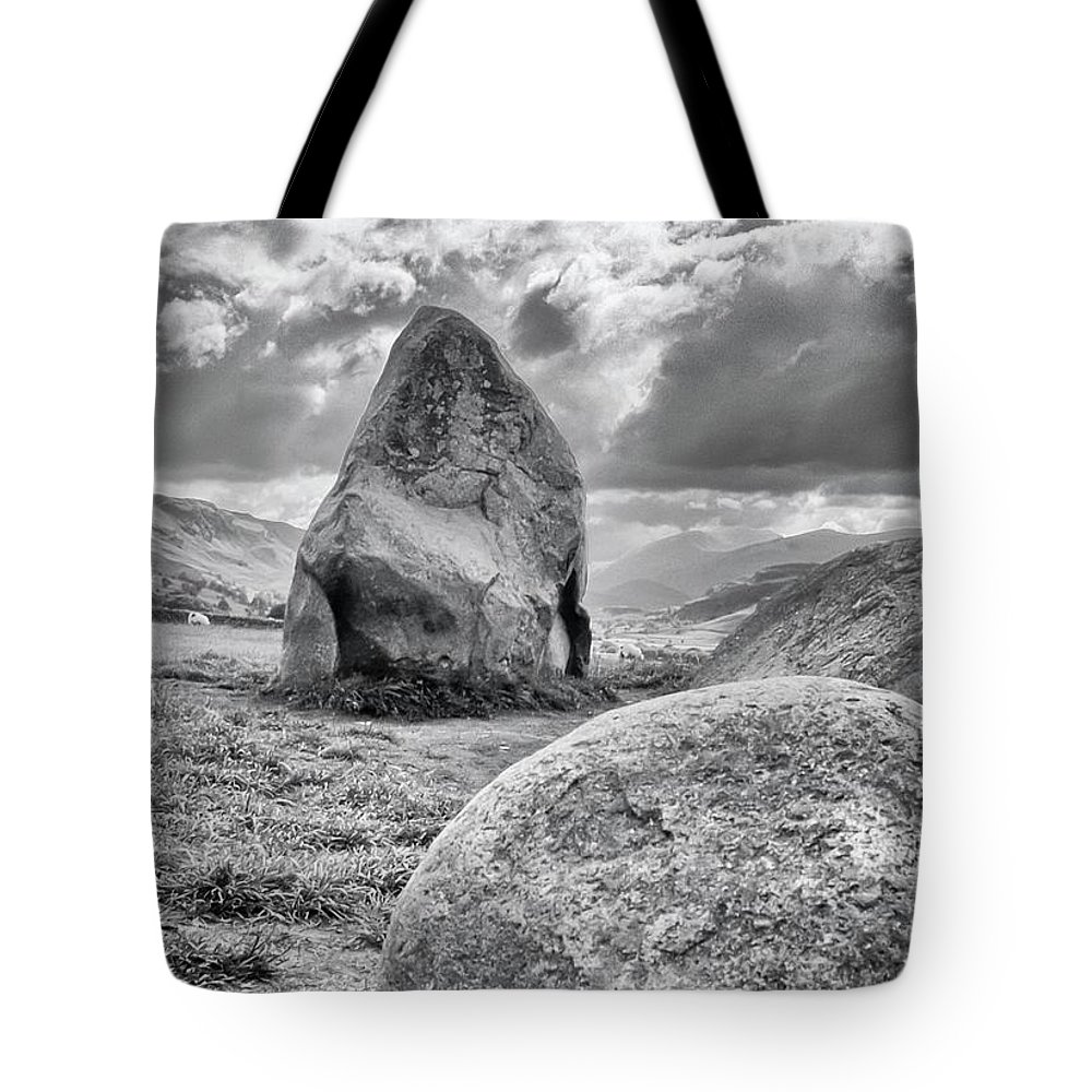 James Lamb Tote Bag featuring the photograph Scottish Stones by James Lamb