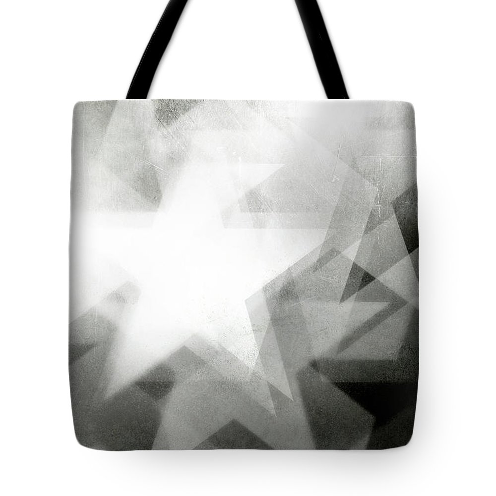Art Tote Bag featuring the photograph Scratchy Star Background by Loudredcreative