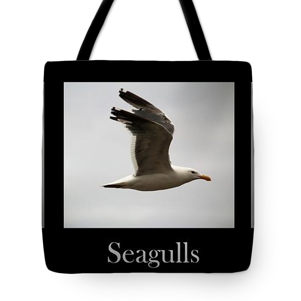 Seagulls Tote Bag featuring the photograph Seagulls by Nick Gustafson