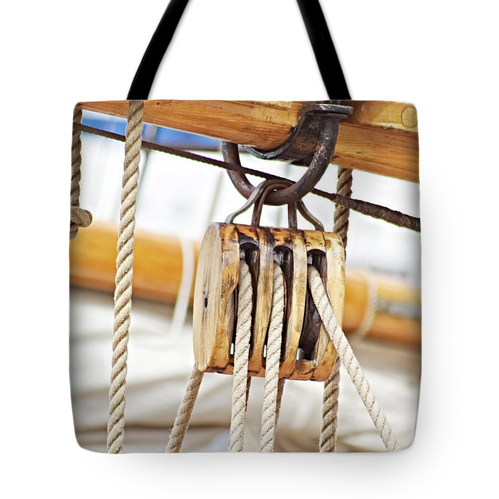 Sailing Boat Tote Bag featuring the photograph Sealife by Carin Sigeskog