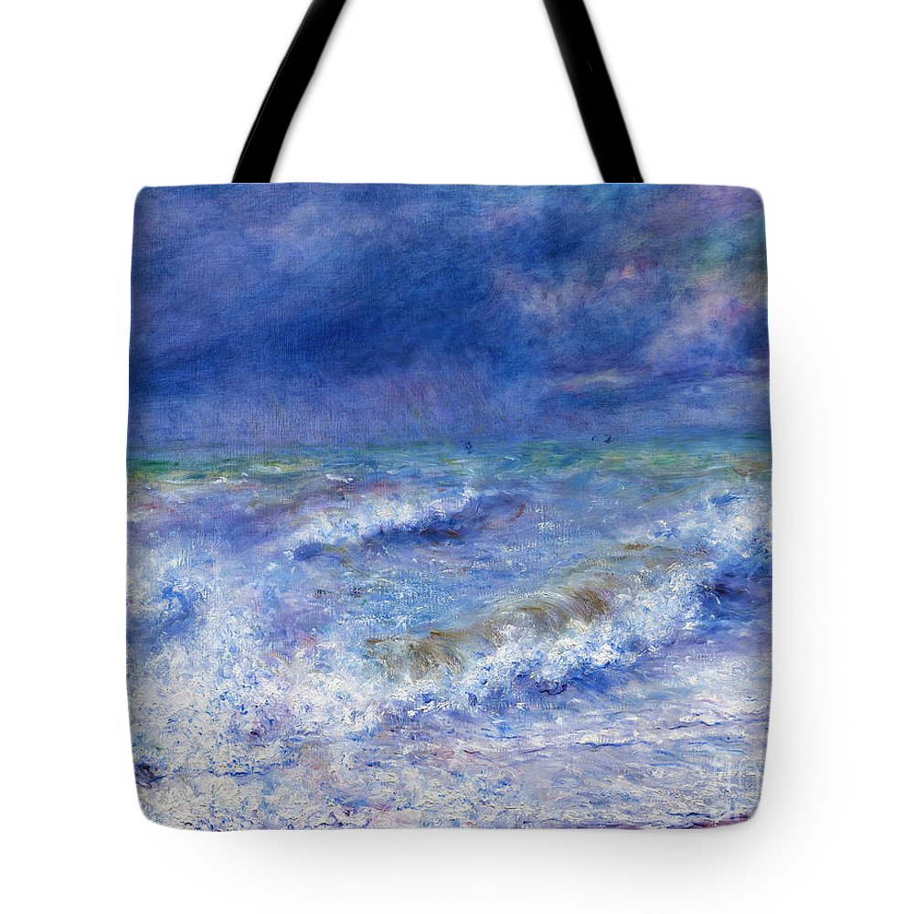 1879 Tote Bag featuring the photograph Seascape by Peter Barritt