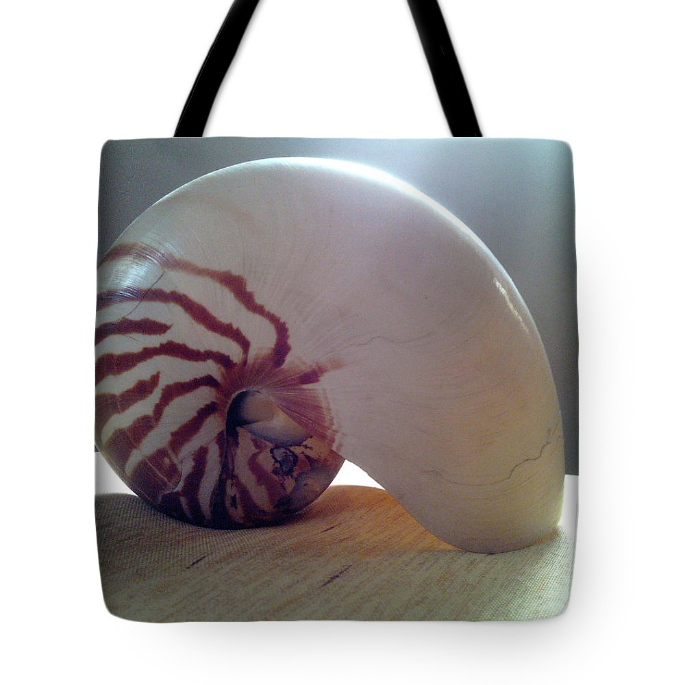 Shell Tote Bag featuring the photograph Seashell by Barista Uno