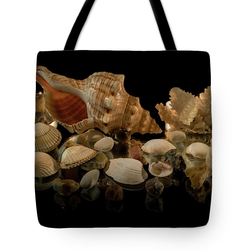 Corals Tote Bag featuring the photograph Seashells by Mila Vasileva