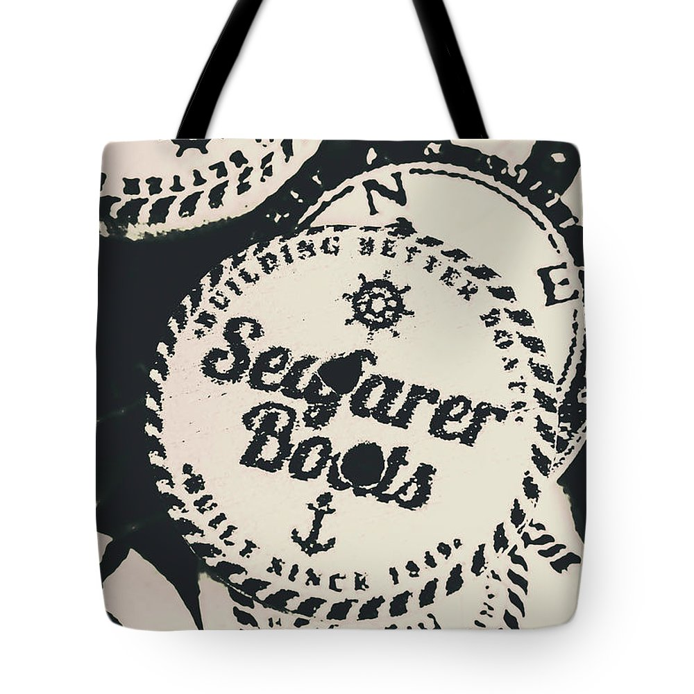 Marine Tote Bag featuring the photograph Seaside Sailors Badge by Jorgo Photography - Wall Art Gallery