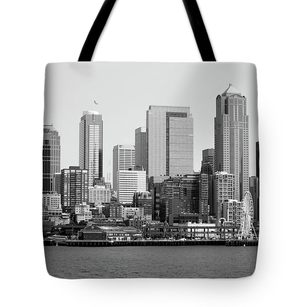 Seattle Tote Bag featuring the photograph Seattle City by Alina Avanesian