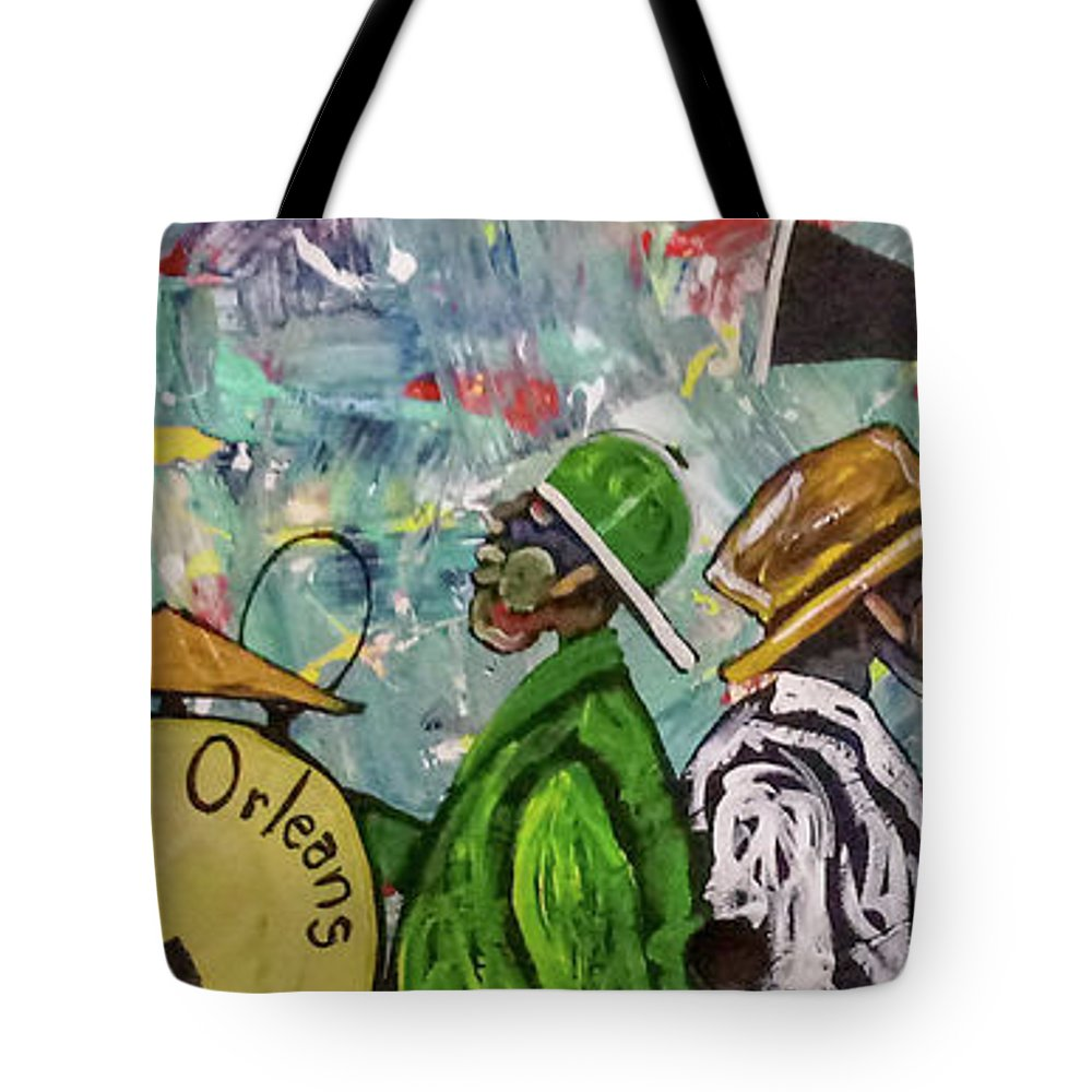 Jazz Tote Bag featuring the painting Second Line 13 by Guilbeaux Gallery