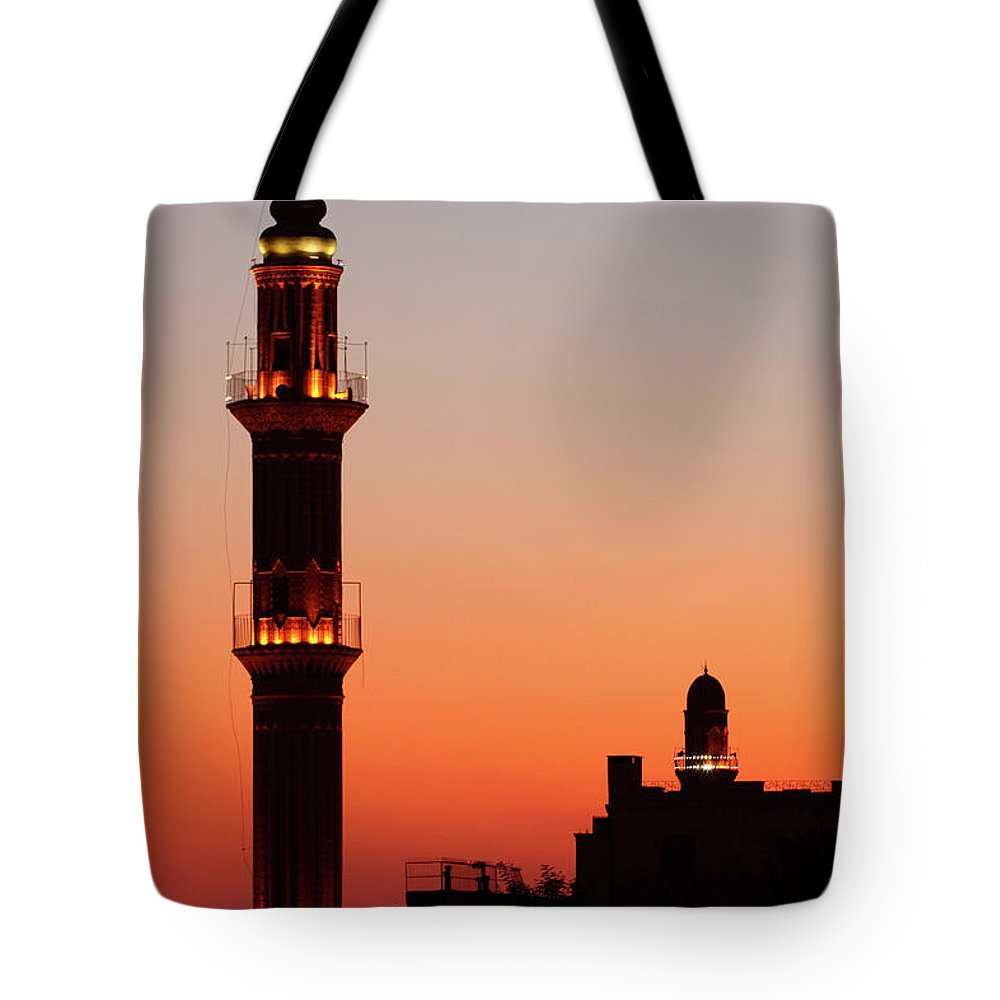 Built Structure Tote Bag featuring the photograph Sehidiye Mosque Minaret by Wu Swee Ong