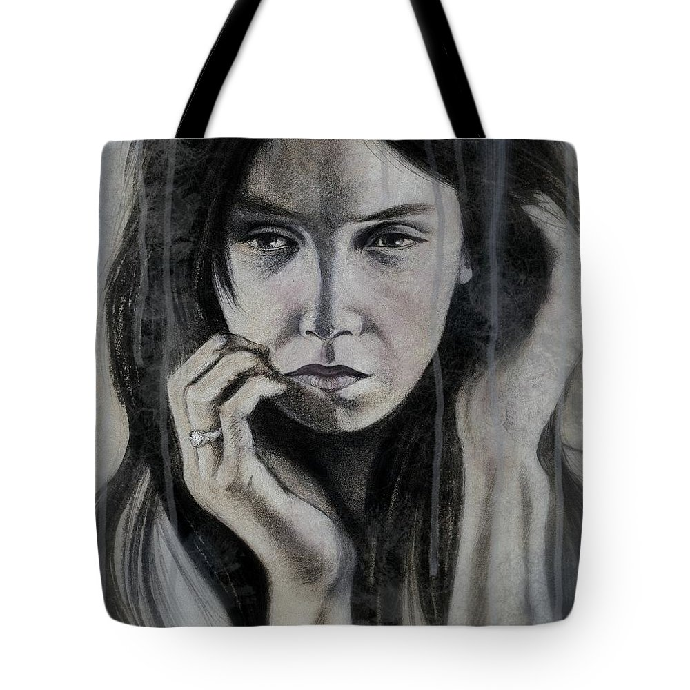 Mood Tote Bag featuring the mixed media Sense Of Impending Doom by Philip Harvey