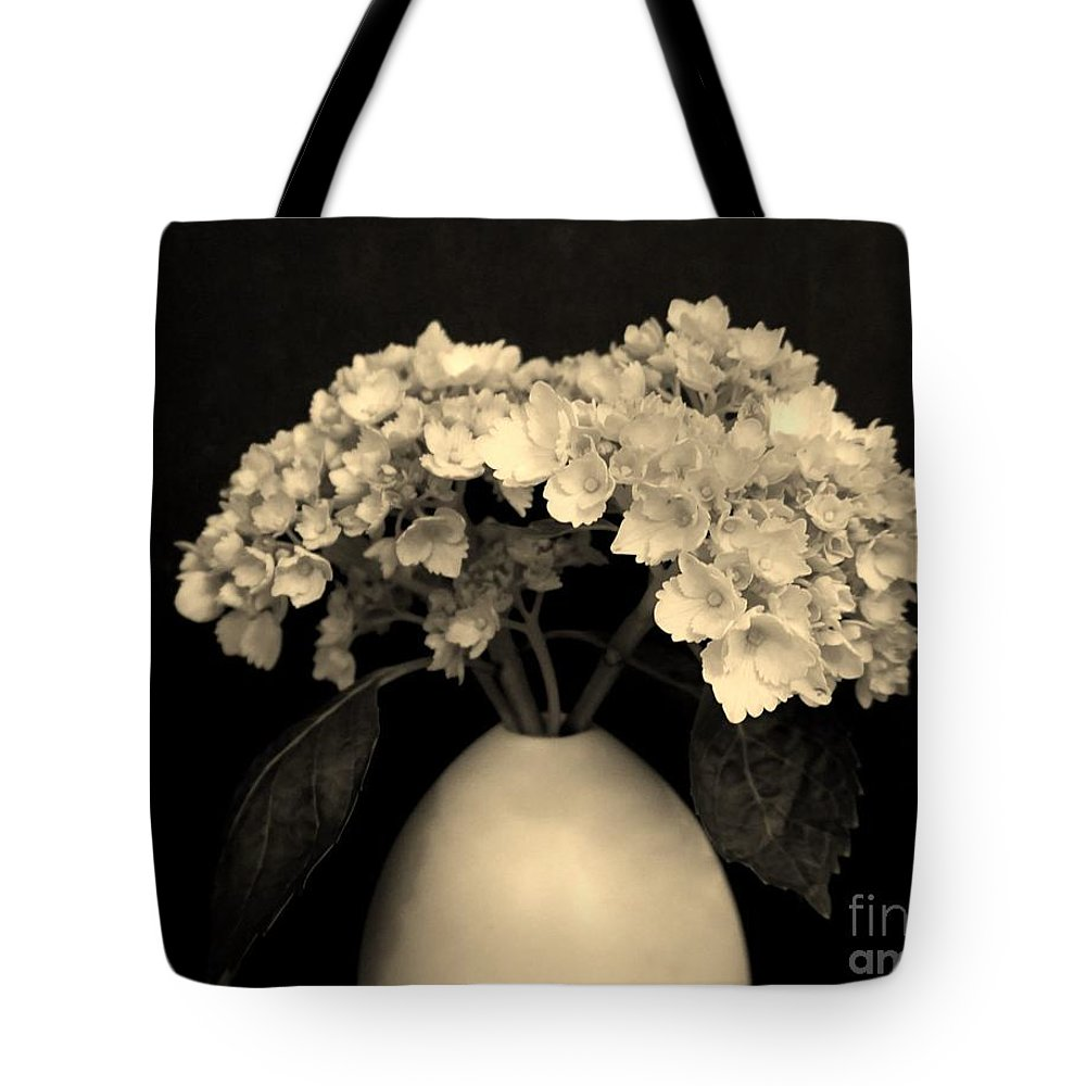 Photo Tote Bag featuring the photograph Sepia Dainties by Marsha Heiken