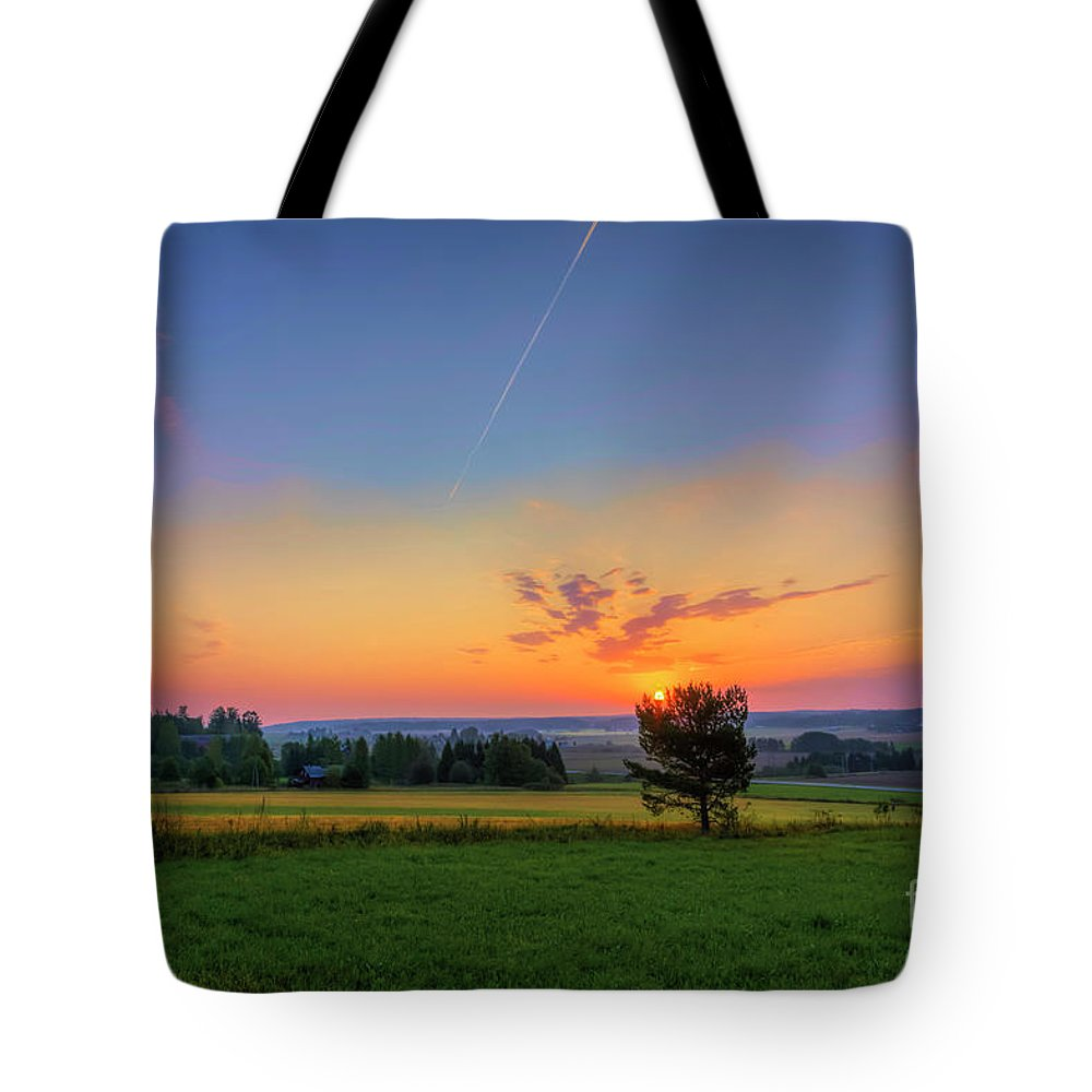 Atmosphere Tote Bag featuring the photograph September Morning by Veikko Suikkanen
