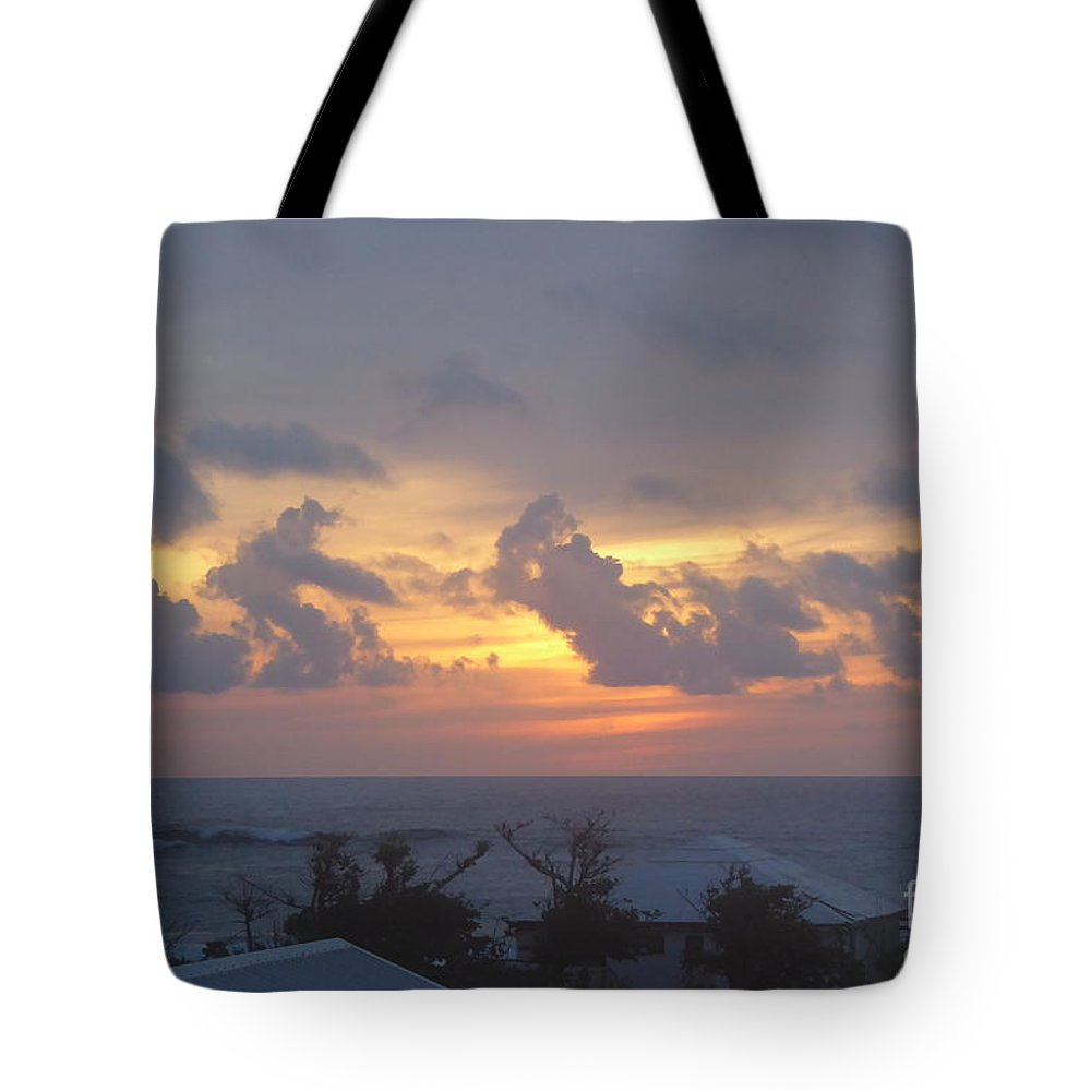 Serene Tote Bag featuring the photograph Serene Sunrise by Margaret Brooks
