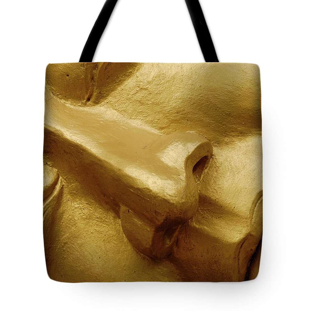 Chinese Culture Tote Bag featuring the photograph Serenity In Buddha by T-immagini