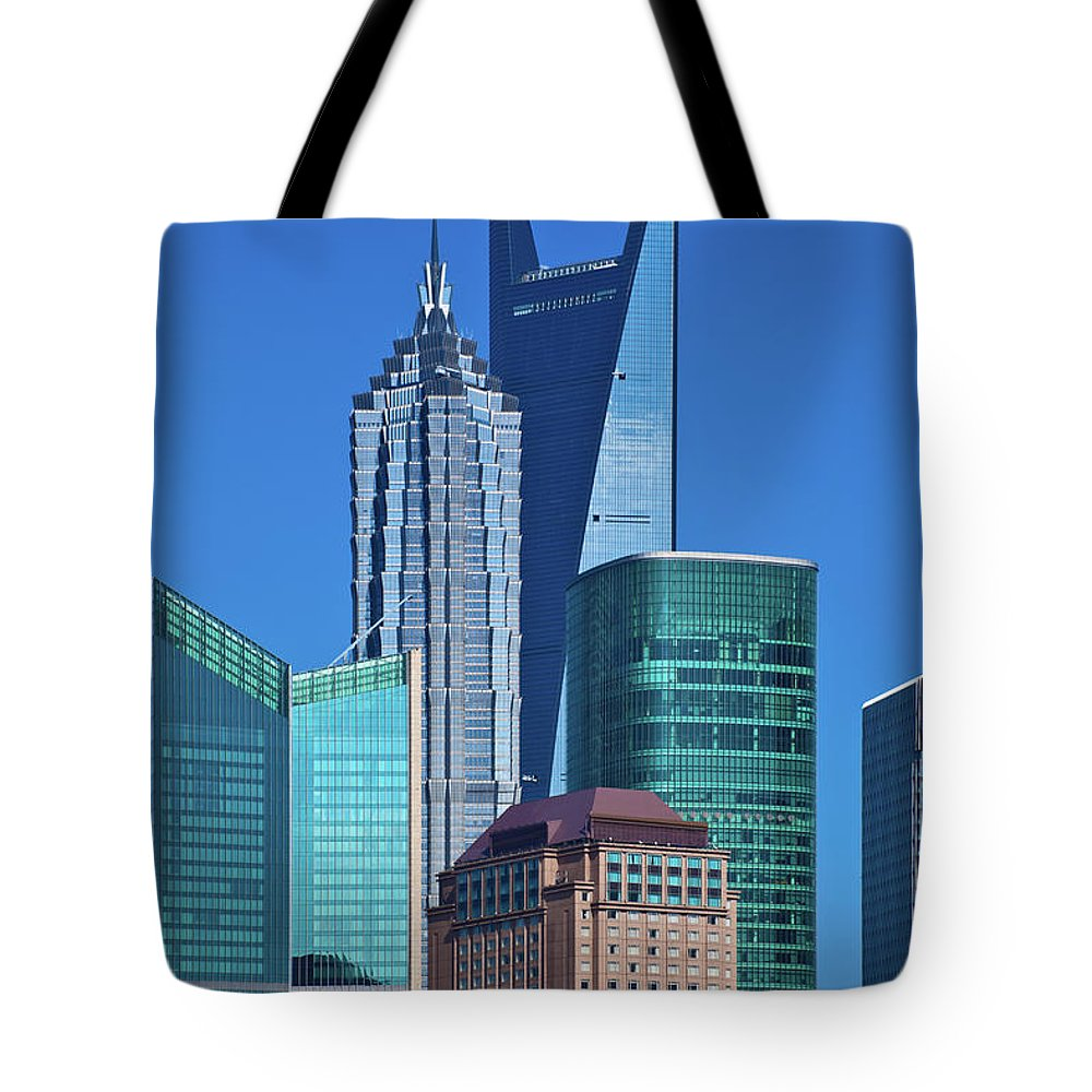 Chinese Culture Tote Bag featuring the photograph Shanghai Landmark Building by Ithinksky