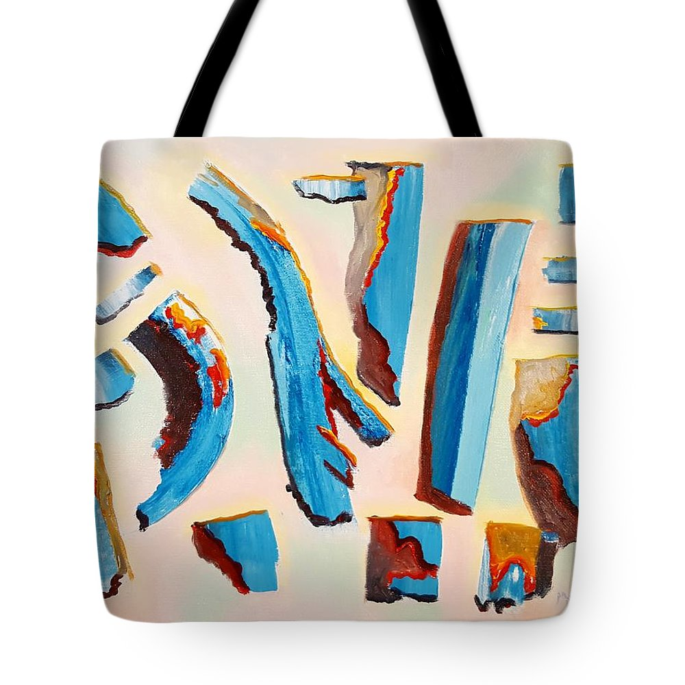 Shards Tote Bag featuring the painting Shards by Dave Martsolf