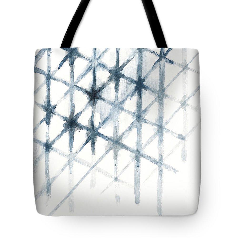 Shibori Tote Bag featuring the mixed media Shibori by Patricia Pinto