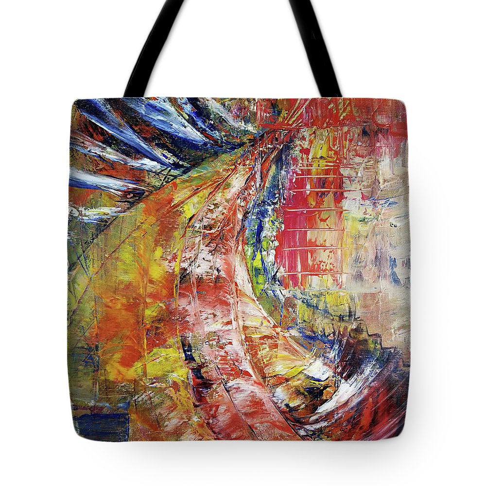 Abstract Tote Bag featuring the painting Side Effected by Nathan Steinke