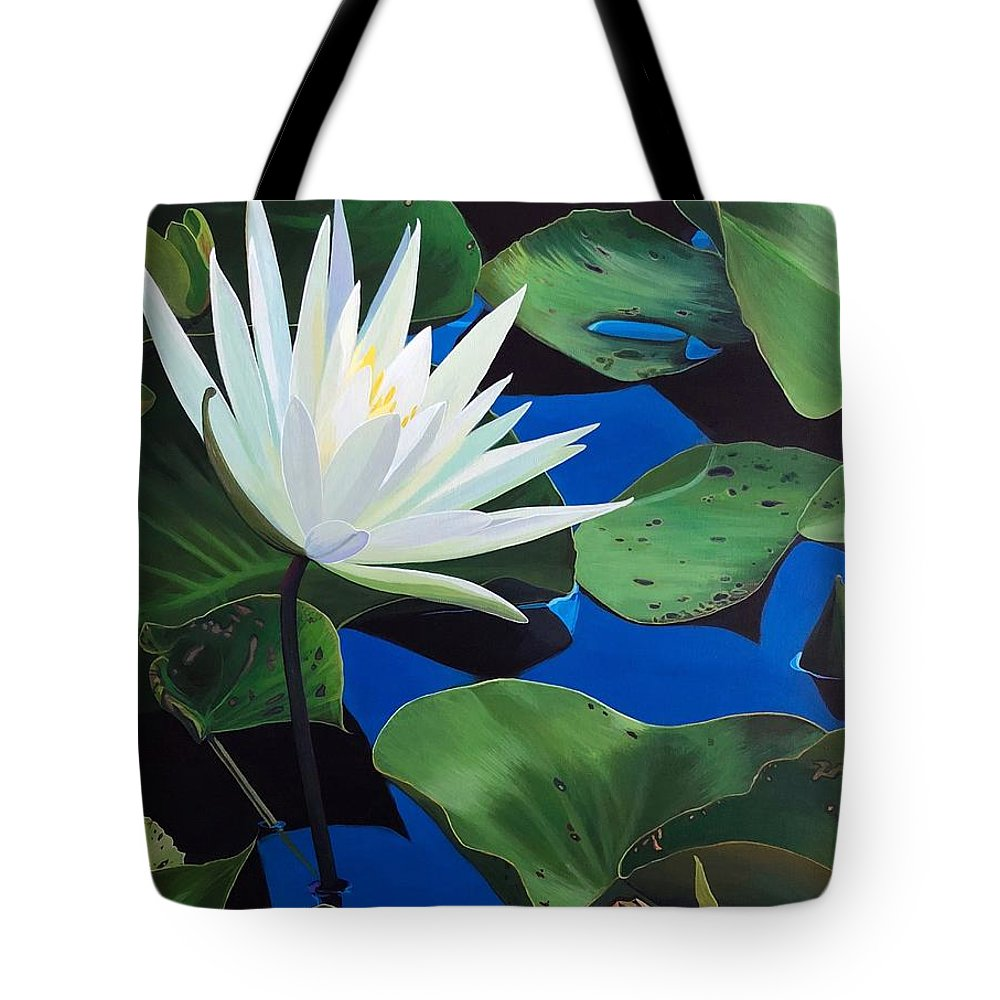 Aquatic Tote Bag featuring the painting Silent Love by Hunter Jay