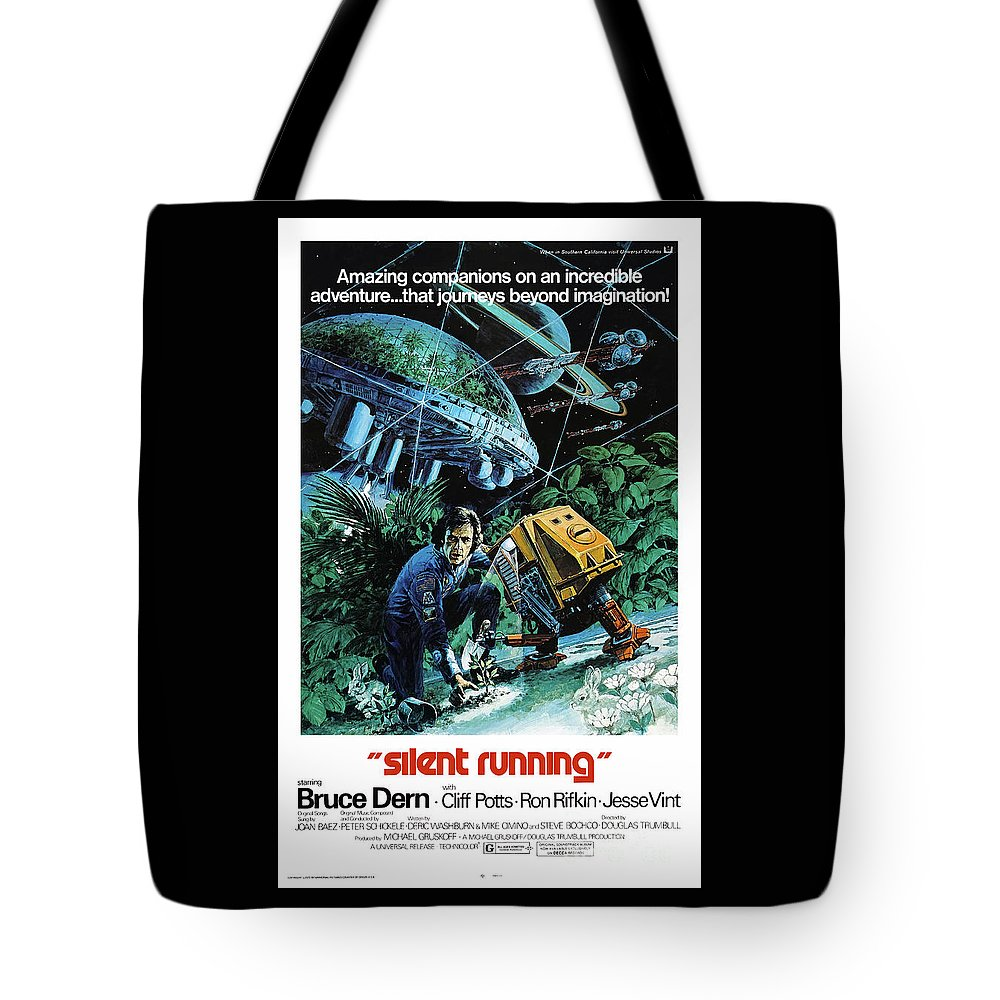 Silent Running Tote Bag featuring the mixed media Silent Running 1972 by Kultur Arts Studios