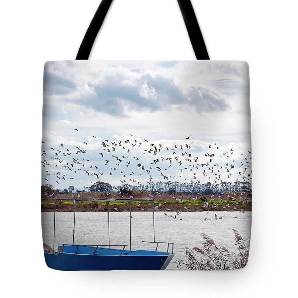 Scenics Tote Bag featuring the photograph Simeto River, Catania Sicily by Francesco Cantone