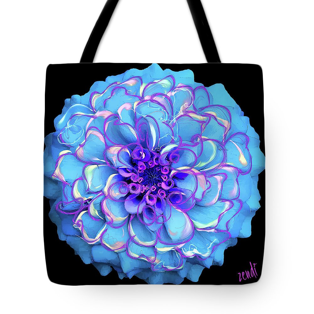 Blue Tote Bag featuring the digital art Singing The Blues by Cindy Greenstein