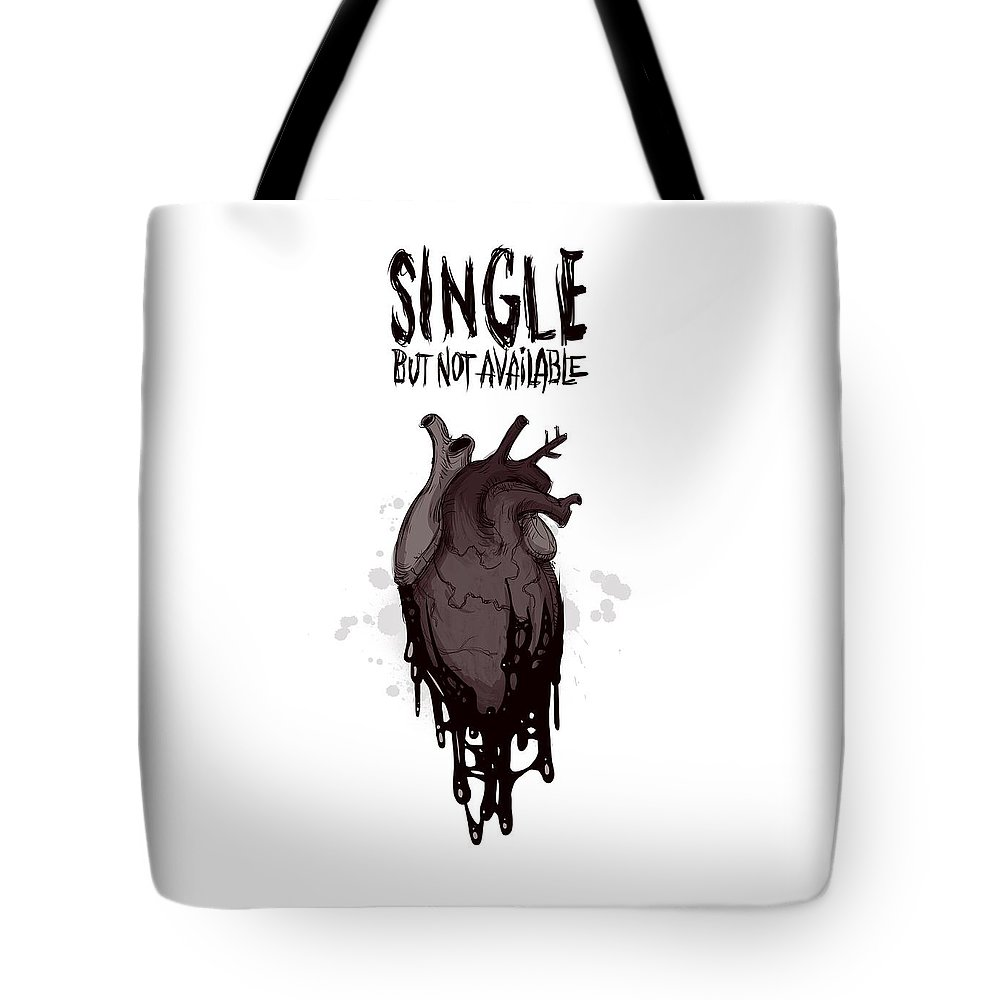 Single Tote Bag featuring the drawing Single by Ludwig Van Bacon