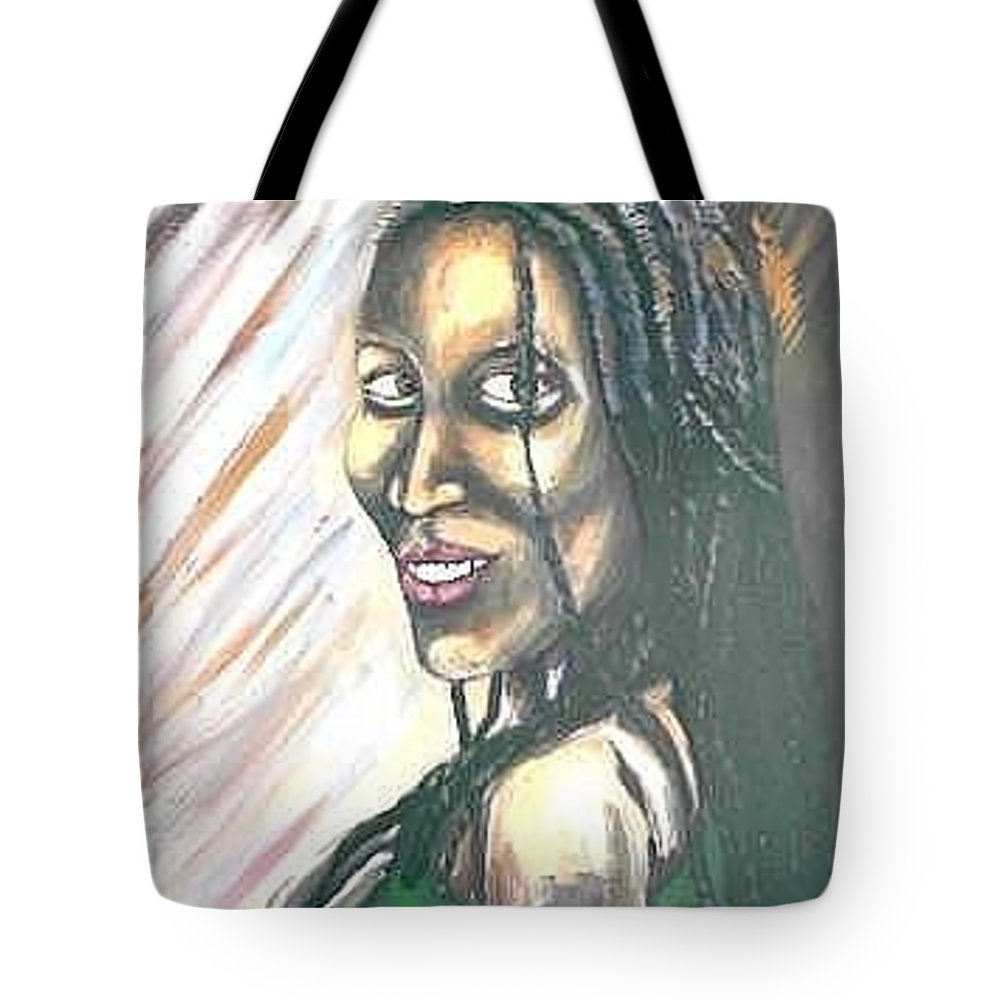 Tote Bag featuring the painting Sister by Andrew Johnson