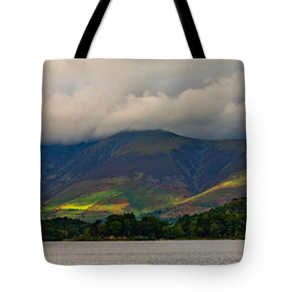 Skiddaw Tote Bag featuring the photograph Skiddaw Panorama by John Collier