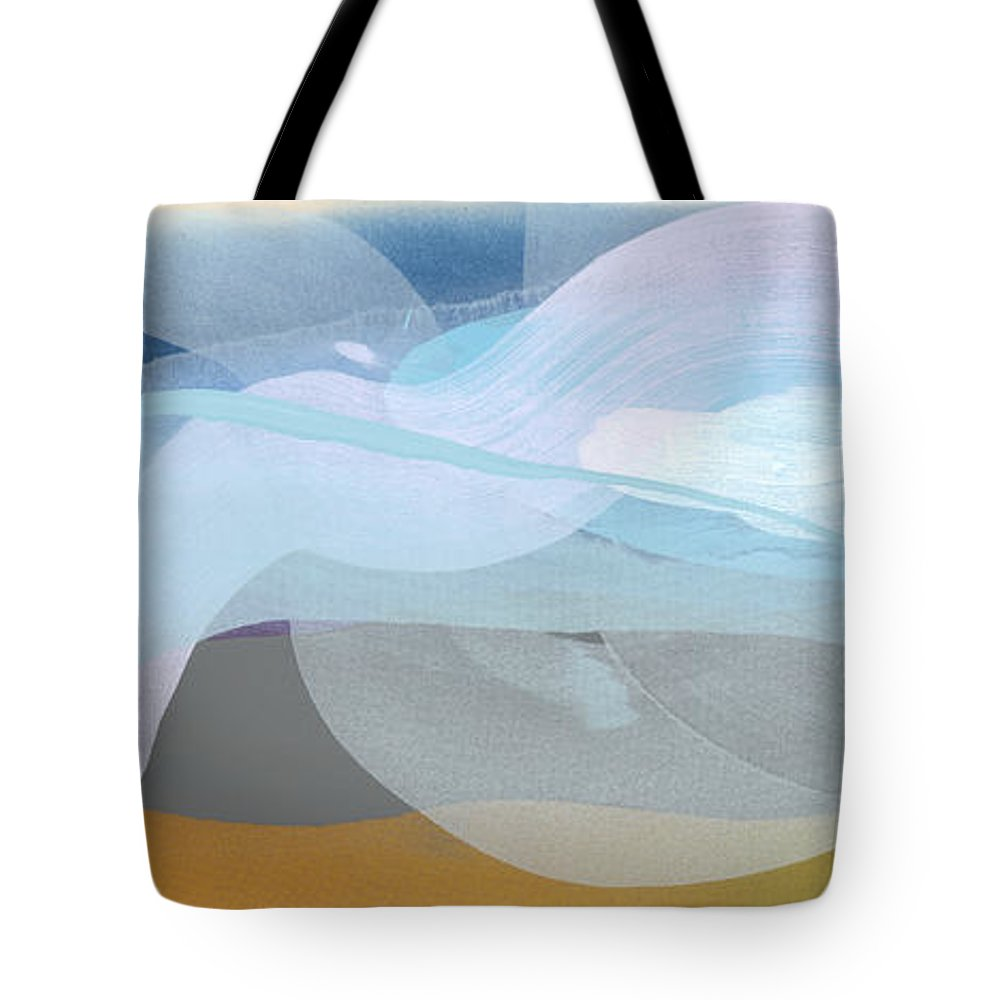 Abstract Tote Bag featuring the painting Sleep In Past 8 by Claire Desjardins