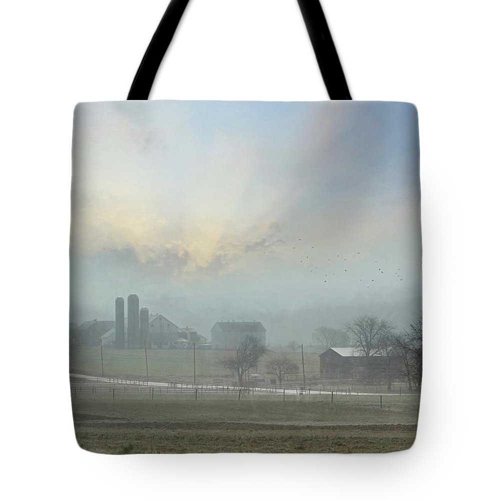 Amish Tote Bag featuring the photograph Slow Down And Enjoy Life by Lori Deiter